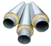 Трубы пенополиуретановые в оболочке из оцинкованной стали (ППУ ОЦ)